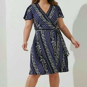 LOFT size 20 faux wrap dress NWT